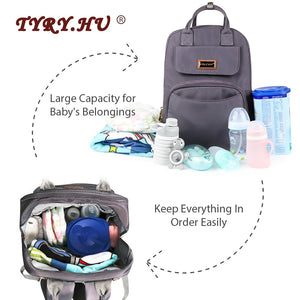 Fashion Mummy Maternity Bag USB Multi-function Bottle Insulation Diaper Bag Large Capacity Baby Stroller Bag Mom Travel Backpack