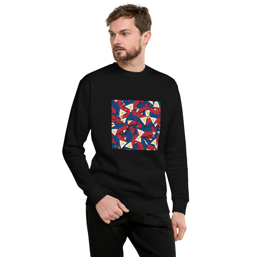 Philippine Flags Design Unisex Fleece Pullover
