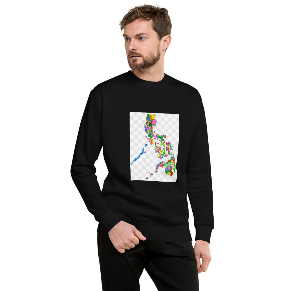 Colorful Philippine Map design Unisex Fleece Pullover