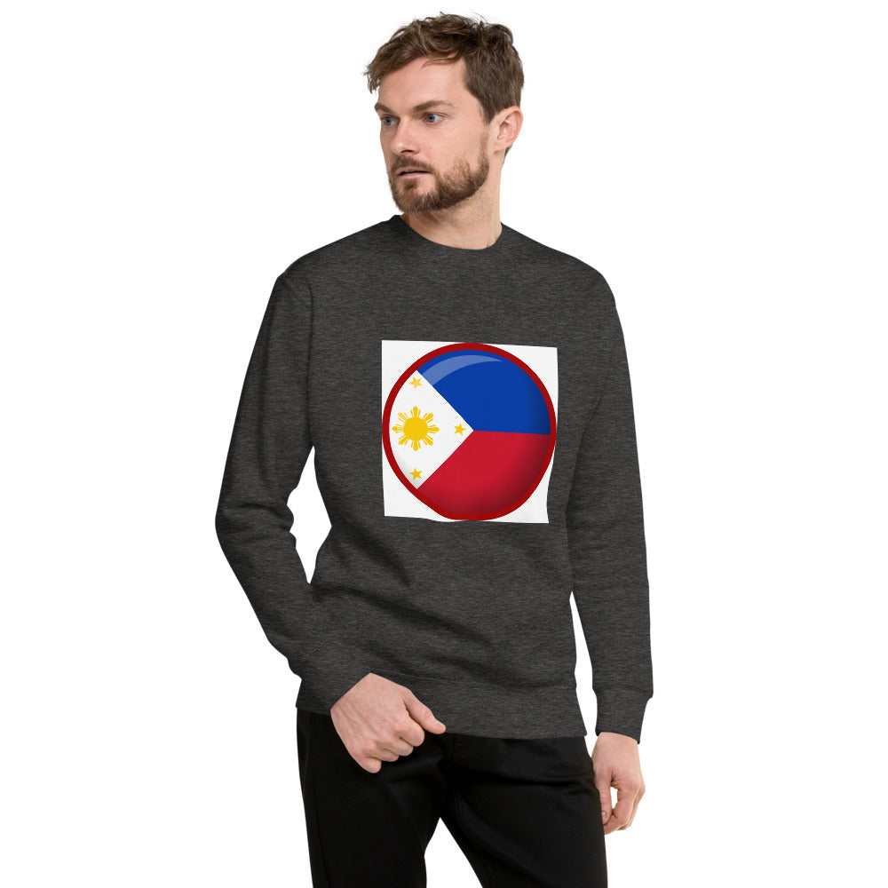 Philippine Flag in a Round-shaped Design Unisex Fleece Pullover