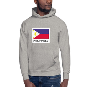 """ Philippines "" Print with Flag Design Unisex Hoodie"