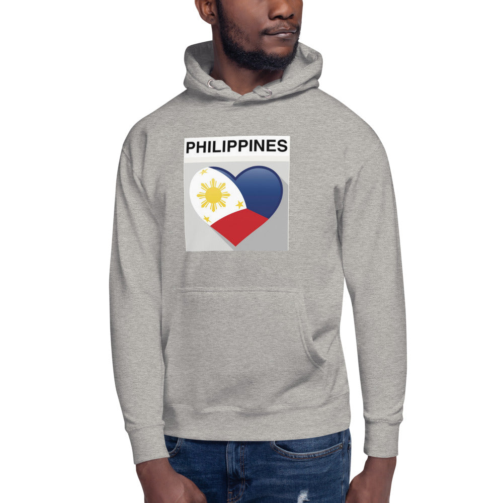 Philippine Flag in a Heart-shaped Design Unisex Hoodie