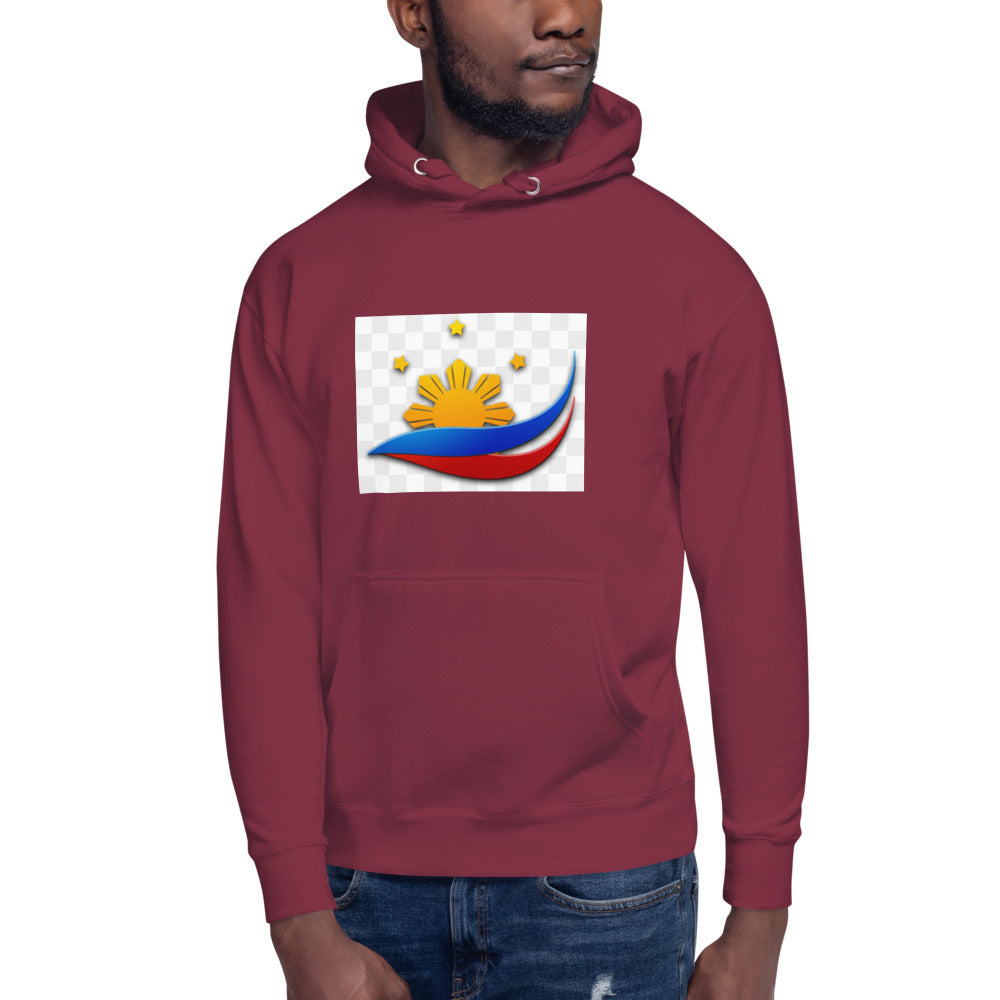 A Sun and 3 Stars Design Unisex Hoodie