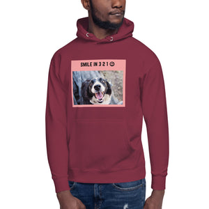 """ SMILE IN 3 2 1 "" DOG DESIGN Unisex Hoodie"