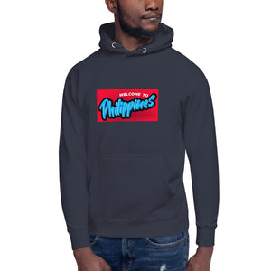 """ Welcome To Philippines "" Print Design Unisex Hoodie"