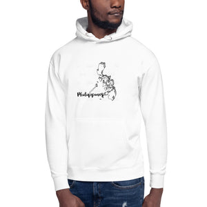 "Philippine Map with "" Philippines "" Print Design Unisex Hoodie"