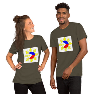 PHILIPPINE FLAG IN A SUN DESIGN Short-Sleeve Unisex T-Shirt