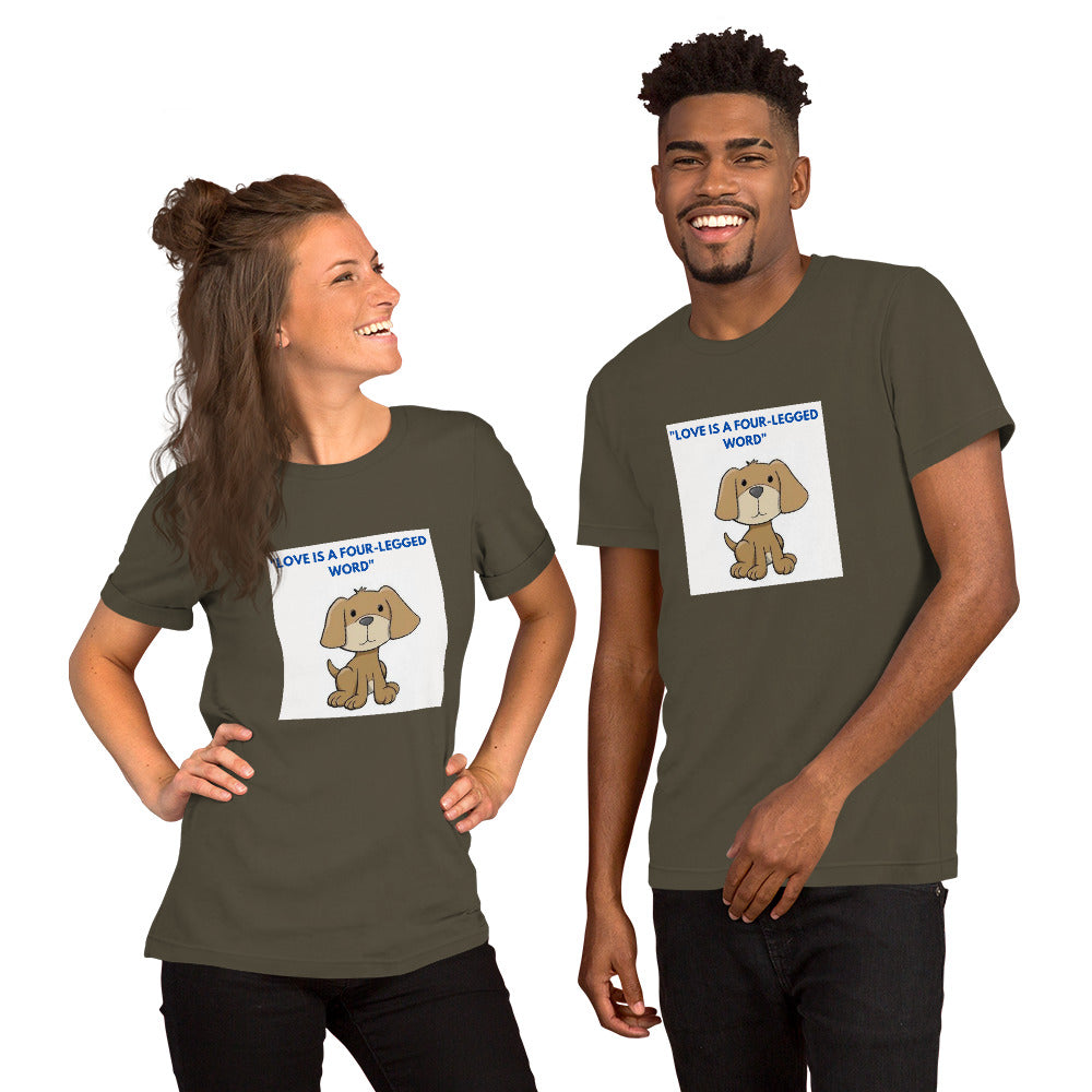 CUTE DOG DESIGN Short-Sleeve Unisex T-Shirt