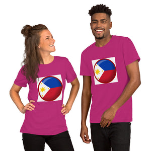 THE PHILIPPINE FLAG IN A ROUND SHAPED DESIGN Short-Sleeve Unisex T-Shirt