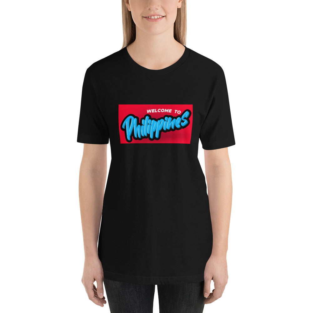 """ WELCOME TO PHILIPPINES "" PRINT DESIGN Short-Sleeve Unisex T-Shirt"