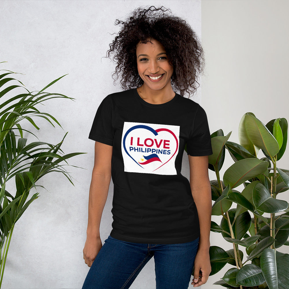 """ I LOVE PHILIPPINES "" PRINT DESIGN Short-Sleeve Unisex T-Shirt"