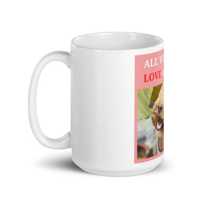 """ ALL YOU NEED IS LOVE AND A DOG "" DESIGN Mug"