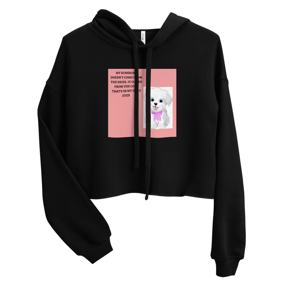 ADORABLE AND CUTE DOG DESIGN Crop Hoodie