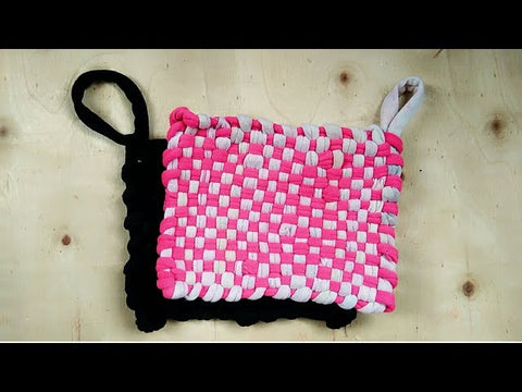 DIY potholder using unused clothes, shirts