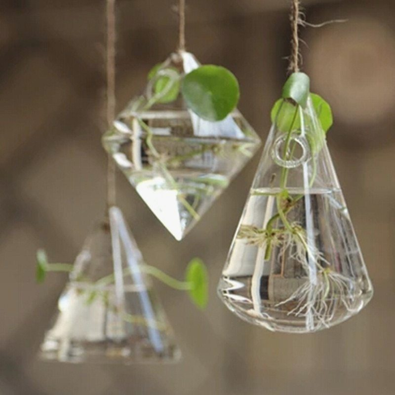 Remarkable Glass Hanging Planters
