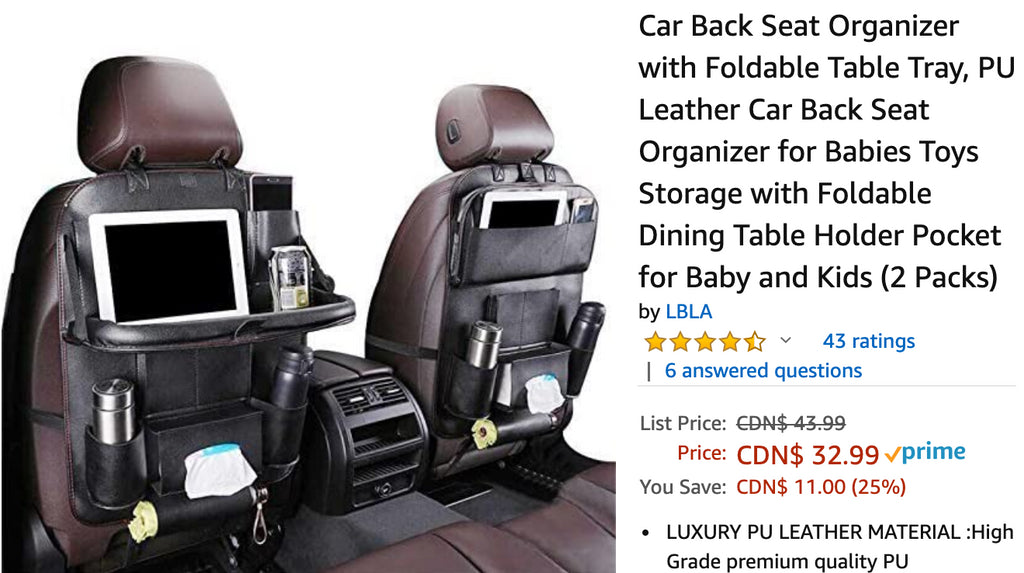 Amazon Canada Deals: Save 25% on Car Back Seat Organizer + 21% on  Hamilton-Beach Digital Food Steamer + More Deals