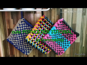 On this video i will teach you how to make string pot holder ,, extra income at home #potholder #cutepotholder #stringpotholder.