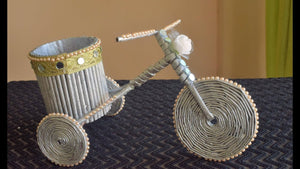 NewspaperCraft #diypenstand #Newspapercycle How To Make Newspaper Cycle Decorative Piece | DIY Newspaper Cycle Pen Stand | DIY Newspaper cycle ...