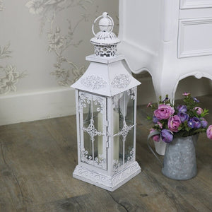 Uk Concept White Candle Lantern