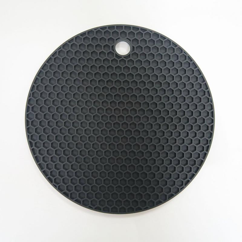 Durable Silicone Round Non-slip Heat Resistant Mat Cushion Placemat Pot Holder