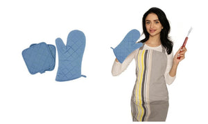 Cotton Thick Quilted Cooking Kitchen Linens Pot Holder Gloves