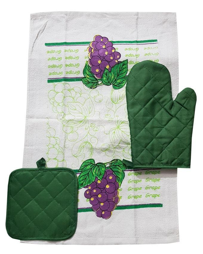 Kitchen Towel, Oven Mitt and Pot Holder Set