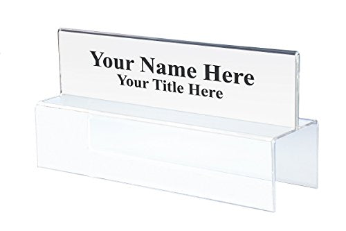 "8-1/2"" Wide x 2-1/2"" high Double-Sided Office Cubicle Nameplate Sign Frame - 2-1/4"" deep Hook - PNHT2085025022 (10 Pack) - Cubicle Name Plate Holders"