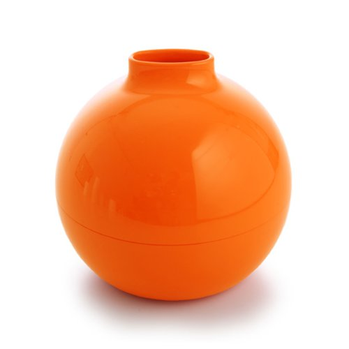 Ai Collection MollaSpace Paper Pot Toilet Paper and Tissue Paper Holder, Orange