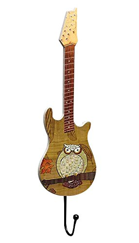 East Majik Key Holder Guitar Shape Wood Coat Hanger Hook