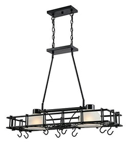 Kenroy Home Holder Pot Rack, Blacked Oil Rubbed Bronze