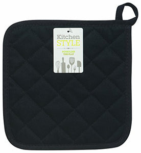 Kitchen Style by Now Designs Potholders, Black, Set of 2