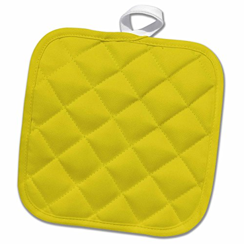 3D Rose Print of Chartreuse Yellow Pot Holder, 8 x 8