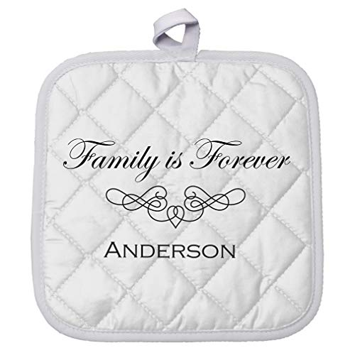 Personalized Custom Text Family My Family is Forever Polyester Pot Holder