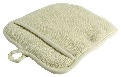 Large Terry Cloth Pot Holders, w/Pocket, Potholders, Oven Mitts, Heat-resistant to 200, 9 x 8 Inches, Set of 3 - Beige Color