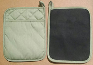 Home Collection Set of 2 Green Neoprene Pot Holders