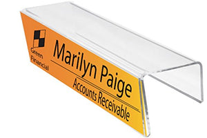 "8-1/2"" x 2-1/2"" Cubicle Sign Holder & Name Plates 8-1/2"" Wide x 2-1/2"" high x 3"" deep Hook - PNH085025030 (40 Pack) - Cubicle Name Plates"