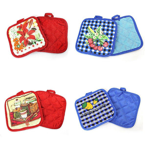 100% Cotton Rich, Kitchen Heat Resistant Pan, Pot Holder, Oven Glove x 2     0319