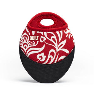 BUILT NY Neoprene Pot Holder, Cranberry Red Damask
