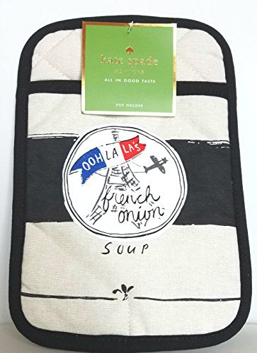 Kate Spade New York French Onion Soup Pot Holder, Flaxseed