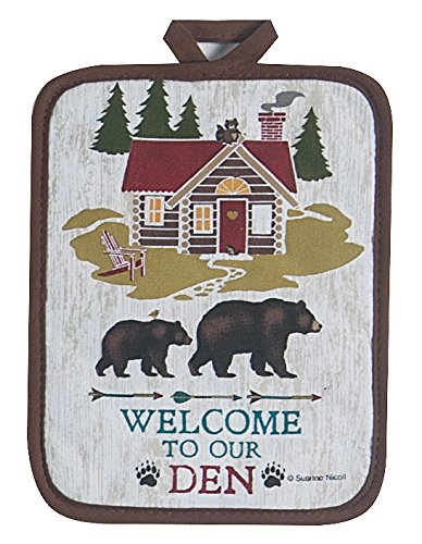 Kay Dee Designs Welcome to The Den Lodge Potholder