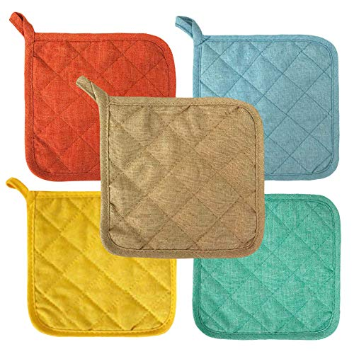 Lobyn Value Packs Potholders 10 Each Seashore Multi Beach Themed Colors