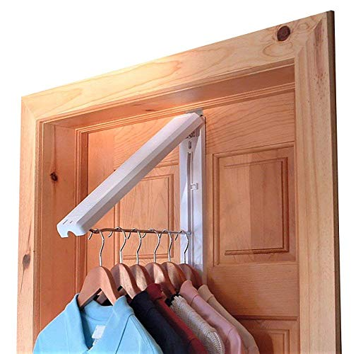 "InstaHanger Closet Organizer, The Original Folding Drying Rack, Wall Mount, Includes ""Over Door Bracket"" For 1 3/8"" Thick Doors Only"