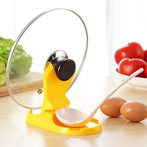 1PCS Multifunction Foldable Pot Pan Spoon Lid Storage Stand Holder Rack Utensil Cooking Kitchen Wave Convenient By Martial