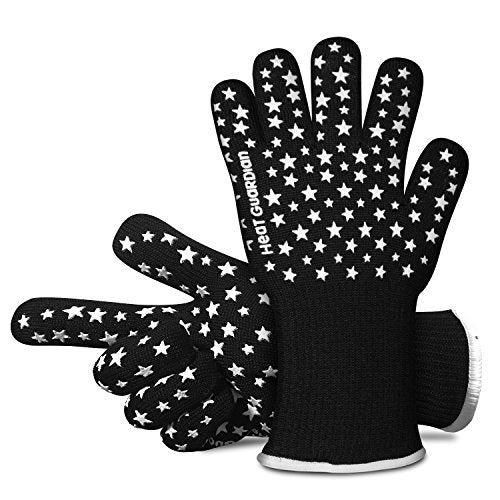 Heat Guardian Heat Resistant Gloves – Protective Gloves Withstand Heat Up To 932? – Use As Oven Mitts, Pot Holders, Heat Resistant Gloves for Grilling