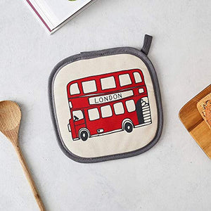 London Icons Pot Grab/Pot Holder - 100% Cotton - Made in Britain