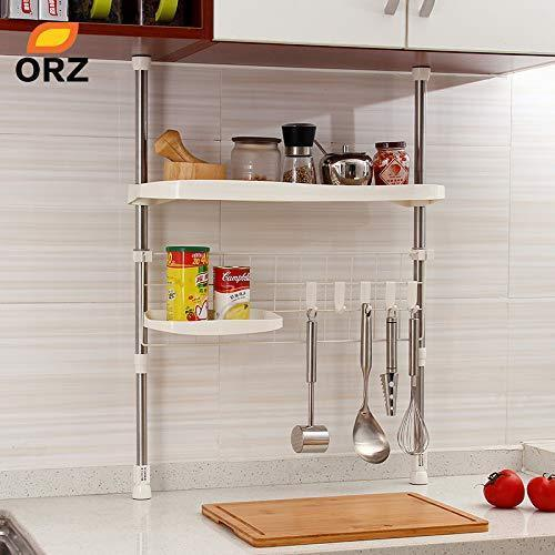 Gano Zen Kitchen Adjustable Shelf Creative Seasoning Condiment Pot Holder Cooking Utensil Hanger Kitchen Organizer Storage Rack