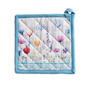 Maison d' Hermine Flower in The Field 100% Cotton Pot Holder 8 Inch by 8 Inch