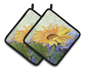 Caroline's Treasures Flower - Sunflower Pair of Pot Holders RDR2001PTHD, 7.5HX7.5W, Multicolor