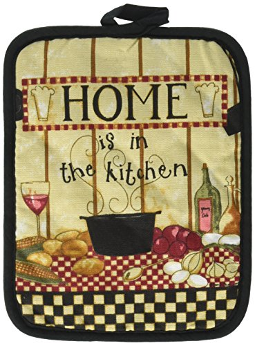 Kay Dee Designs Cotton Potholder, Home is in The Kitchen