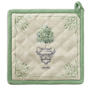 Maison d' Hermine Jardin du Roy 100% Cotton Pot Holder 8 Inch by 8 Inch